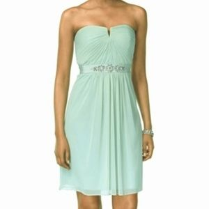 Adrianna Papell Strapless Embellish Dress Mint 16